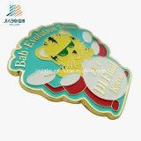 Perni su ordinazione del distintivo dello smalto del commercio all'ingrosso della fabbrica della Cina di musica in lega di zinco della tigre