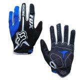 Голубой мотоцикл перчатки Riding спорта высокого качества участвуя в гонке перчатки (MAG56)