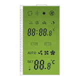 Alphanumerische LCD-Bildschirmanzeige für Temperatursteuereinheit