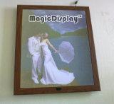Advertising Aluminum Wooden Frame Magic Mirror