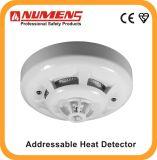 Sortie LED à distance à 2 fils et à distance, détecteur de chaleur à température fixe adressable (HNA-360-HL)