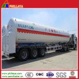 40-55cbm LNG flüssiger Kohlendioxyd-LKW-Becken-halb Schlussteil