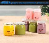 Nette Nachtischcruets-Pudding-Joghurt-Milch-Gelee-Glasflasche