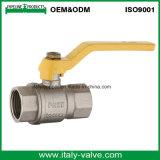 Kundenspezifische Qualität schmiedete goldenes Baß-Kugelventil mit Griff (IC-1061)