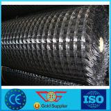 Revêtement en PVC Wrap renfort d'asphalte en polyester tricoté géogrille 80kn