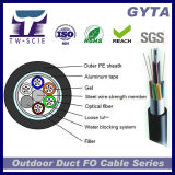 GYTA avec ruban en aluminium 12 coeurs de câble en fibre optique monomode