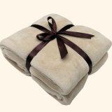 Manta de poliéster 100% coberta de lã de coral sólido com arco