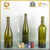 forme verte de vin du Rhin de collet de bouteille en verre de vin de 750ml le Rhin longue (527)