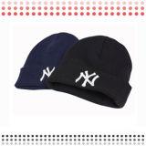 Emboirderyパッチのかぎ針編みの帽子のウールの帽子