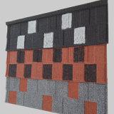 Peso ligero recubierto de piedra mosaico de metal para tejados Material de construcción