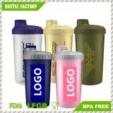 Freie Probe 700ml Wholesale kundenspezifische Plastikschüttel-apparatflasche