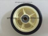 Roda de borracha sólida Rim de plástico de 6 polegadas