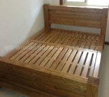 Cama de madera maciza modernas camas dobles (M-X2249)