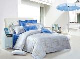 stellte reine Baumwolle 40s mit reagierender gedruckter Bettwäsche ein (YH1495-A/B)