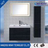 Vanité de salle de bain contemporaine en PVC avec armoire latérale