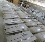 Parte superiore di marmo beige di vanità della stanza da bagno di Crema Marfil