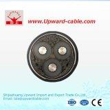 Gepanzertes XLPE Kabel des einzelnen kupfernen Kern-Hochspannungsdraht-