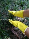 брызг 60g Flocked перчатка водоустойчивого латекса домочадца защитная