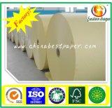 Papel adesivo branco com cor 85 g / face de brilho de papel adesivo