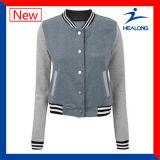 方法デザイン衣類の工場価格の女性野球のジャケット