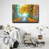 Della fabbrica pittura a olio Handmade di paesaggio di paesaggio di autunno direttamente Wholesale100% su tela di canapa