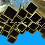 """3/4""""X3/4""""X1mm cuadrado decorativos del tubo de latón"""