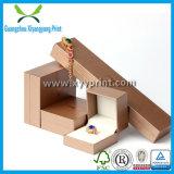 Cuero de papel personalizado joyería de madera caja de empaquetado de la caja de almacenaje del collar del reloj del anillo