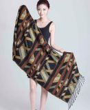 100%Acrylic de Sjaal van de Kleurstof van het garen voor de Winter