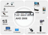 Canal 8 HD 1080P NVR NVR Ahd Soporte DVR 2pcs 4TB de disco duro