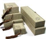 Boîte-cadeau pendante d'emballage de velours de bijou de mémoire de bijou en cuir de cadre (YS105)