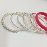 Soem-kundenspezifisches einfaches Goldmetallarmband mit Raupe-Form-Gewebe-Armband