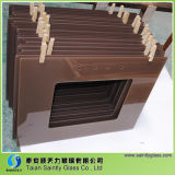 6m m Highquality Brown Printing Tempered Float Decorative Glass Panel para Kitchen Hood