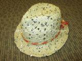 Chapéu de palha de papel menina popular com sequins (DH-LH9112)