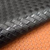 Quadratisches Rasterfeld maserte künstliches PU-Leder, Gitter geprägtes Beutel-Leder