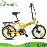 20 '' E-bici plegable mini bicicleta eléctrica con luces LED
