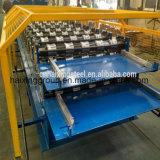 Doppelte Schicht StahlGalzed Fliese-Dach-Rolle, die Maschine bildet