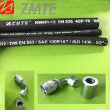 Boyau hydraulique en caoutchouc à haute pression de Zmte SAE100 R2at avec l'ajustage de précision hydraulique