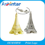 USB Pendrive da torre Eiffel do flash da memória da vara do USB do metal