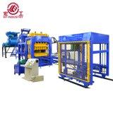 Bloco de cimento automático da cavidade do tijolo do cimento Qt10-15 hidráulico que faz a máquina