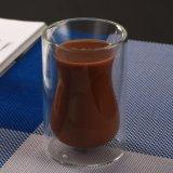 Tazza di caffè di vetro della vita di Pyrex di vetro della tazza della tazza doppia trasparente della spremuta