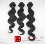 直毛のブラジルのインドの毛のRemyの毛の織り方の毛のよこ糸