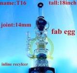 T3 Handblown borosilicato de alta calidad tubo recto rosa Percolator Tall Color Bowl vidrio Craft Ashtray inventario de tubería de vidrio de agua