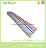 Manguito industrial plástico 32m m del agua de irrigación del tubo del espiral del alambre de acero del PVC