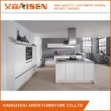 Mobilia bianca dell'armadio da cucina della lacca di stile lineare 2018 facile pulire