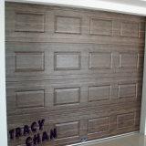 Grain du bois électronique porte de garage sectionnelles