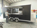 De volledig Hete Ondergedompelde Gegalvaniseerde Mobiele Bestelwagen van de Aanhangwagens van de Vrachtwagen van het Voedsel