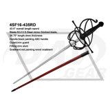 """43.5 """"Comprimento total Espada com bainha de madeira de pintura vermelha"""