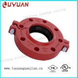 Bracelet à bride rainurée en fer ductile homologué FM / UL pour système de lutte contre l'incendie à tube