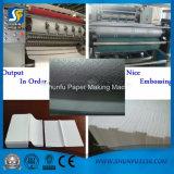 Tipo de embalagem macio personalizado máquina de dobramento facial da dimensão do papel de tecido