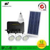 8W Inicio Sistema de energía solar para la iluminación, Teléfono móvil de carga